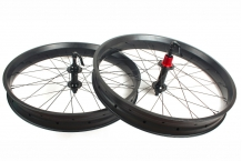80mm wide 25mm FatBike carbon wheelset