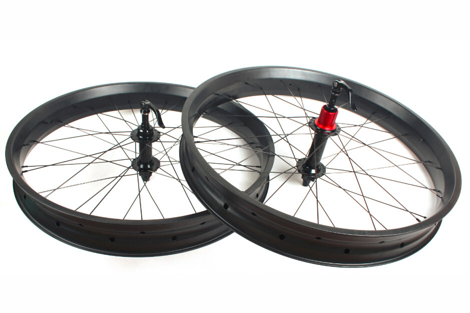- 80mm wide 25mm FatBike carbon wheelset